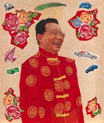 Embroidered Portrait Series: Premier Wen Jiabao; 2007.005