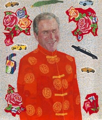 Embroidered Portrait Series: President George W. Bush; 2007.006
