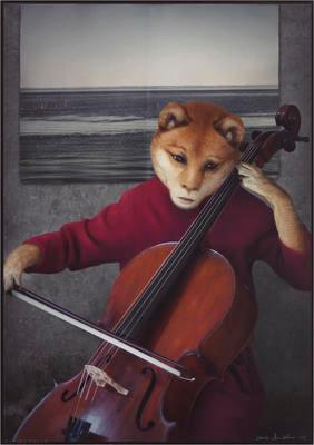 Playing Cello; 2016.223