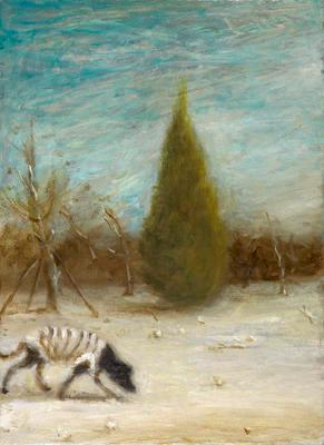 Dog in Wind; 2013.184