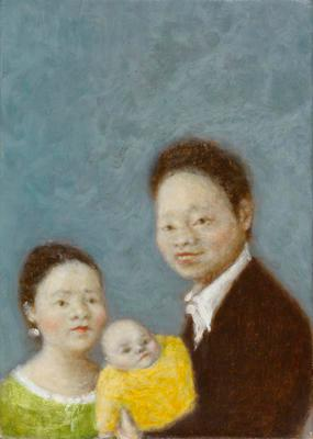 Small Family with One Baby; 2013.187