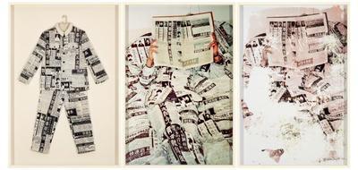 Washing ● Newspaper ● Clothing; 2014.052